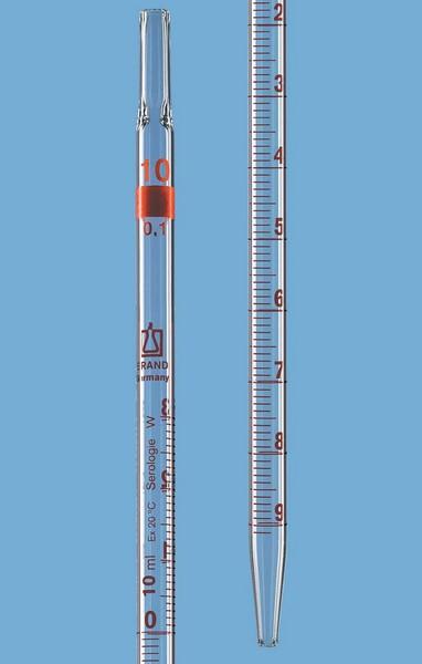de pointe env.2 mm s/érologie /écoulement total   1 ml:0,01  ml dia Pipette grad
